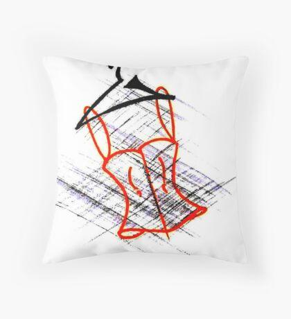 My Doodle corset Throw Pillow