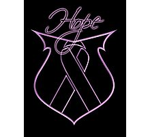 Hope Ribbon Shield Breast Cancer Photographic Print