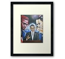 I Have a Dream that Yes We Can By Any Means Necessary!!! Framed Print