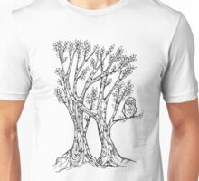 Two trees with owl Unisex T-Shirt