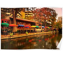 Cafe Rio on the San Antonio River Poster