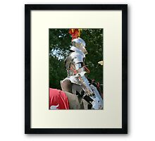 Medieval knight in shining armour Framed Print