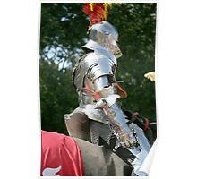 Medieval knight in shining armour Poster
