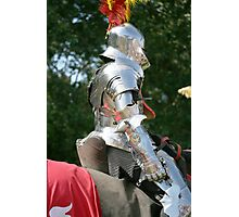 Medieval knight in shining armour Photographic Print