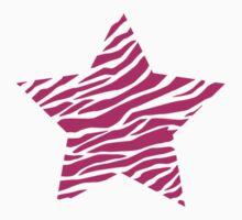 Striped star, magenta Kids Tee