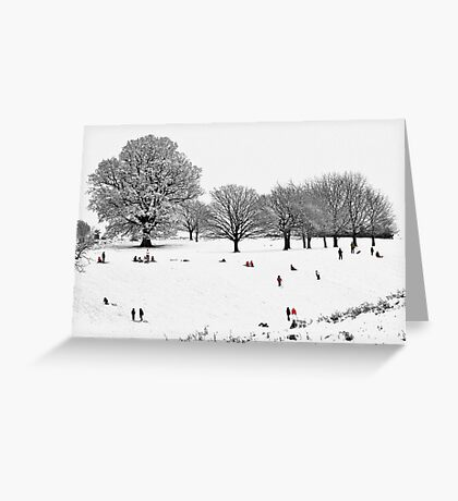 Tribute To Lowry Greeting Card