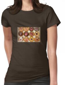 Freaking Donuts Womens Fitted T-Shirt