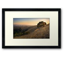 California East Bay Hills in Summer Framed Print