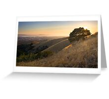 California East Bay Hills in Summer Greeting Card