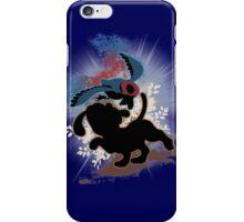 Super Smash Bros. Blue Duck Hunt Dog Silhouette iPhone Case/Skin