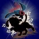 Super Smash Bros. Blue Duck Hunt Dog Silhouette by jewlecho