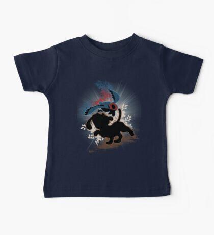 Super Smash Bros. Blue Duck Hunt Dog Silhouette Baby Tee