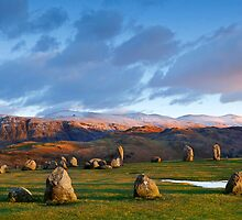 Winter sunset over the Castlerigg Stone Circle by Martin Lawrence