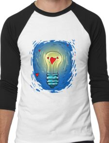 Lamp of love Men's Baseball ¾ T-Shirt