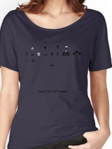 Back To The Future Pictogram Story  Women's Relaxed Fit T-Shirt