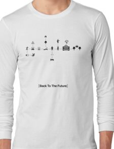 Back To The Future Pictogram Story  Long Sleeve T-Shirt