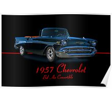 1957 Chevrolet Bel Air Convertible w/ ID Poster