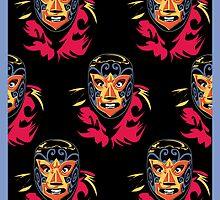 Mascarado Wall Print by counterpartfilm