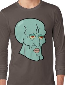 Handsome Squidward Long Sleeve T-Shirt