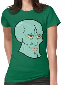 Handsome Squidward Womens Fitted T-Shirt