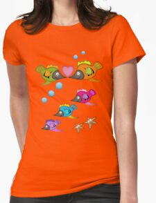 Cute Fish in Love, vector design T-Shirt
