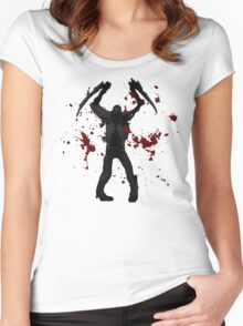 DeadSpace Necromorph [Bloody Slasher] Women's Fitted Scoop T-Shirt