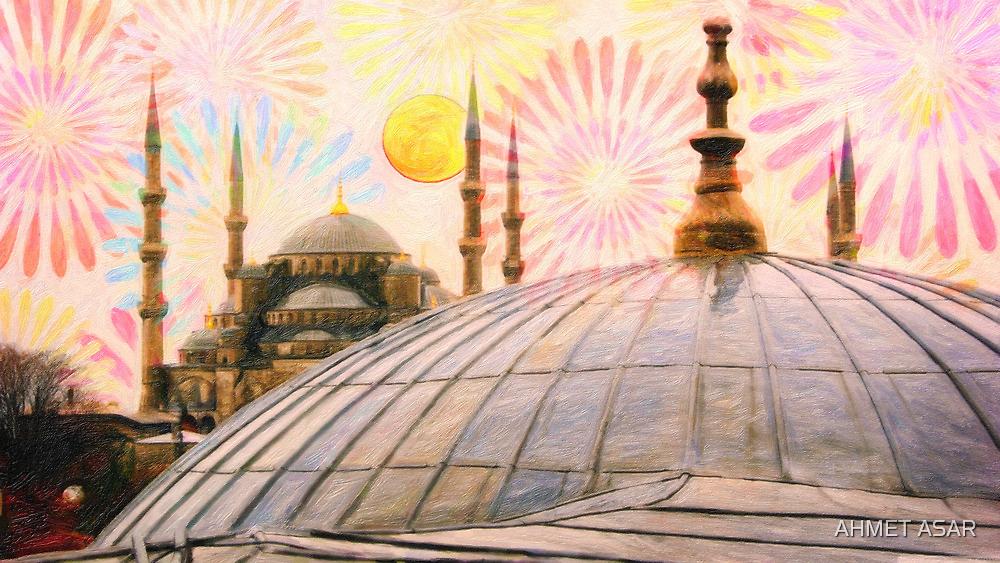 Rainy Istanbul art by Adam Asar