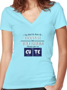Periodic Table | CuTe Women's Fitted V-Neck T-Shirt