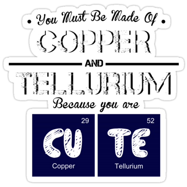 Periodic Table   CuTe by RhysDesigns94