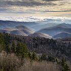 Blue Ridge Parkway NC Scenic Winter Landscape - Serenity by Dave Allen