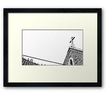 Church is †he New White Framed Print