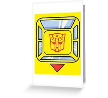 Transformers - Bumblebee Greeting Card