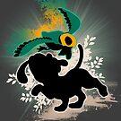 Super Smash Bros. White/Dalmatian Duck Hunt Dog by jewlecho