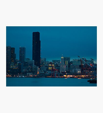 predawn downtown Photographic Print