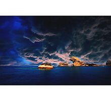 stormy oasis  pastel Photographic Print