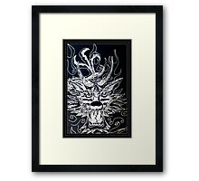 Dragon Sketch Framed Print