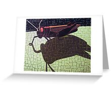 """""""Red hopper"""" Greeting Card"""
