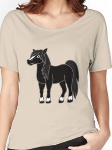 Black Horse with Blaze Women's Relaxed Fit T-Shirt