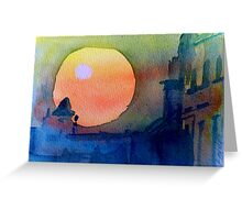 Two Suns Greeting Card