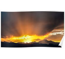 Light Jet At Sunset Poster