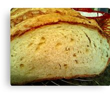 fresh, crispy,  homemade German cheese bread Canvas Print
