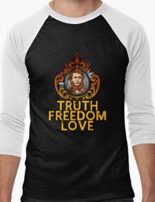 Truth Freedom Love Men's Baseball ¾ T-Shirt