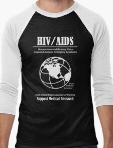 HIV / AIDS Awareness Men's Baseball ¾ T-Shirt