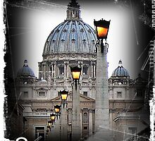 St. Peter's Basilica Vatican Rome by Ingrid Stiehler