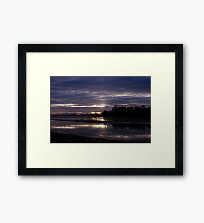 As The Clouds Gather To Reflect Framed Print