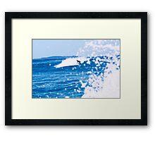 Wave Riding Framed Print
