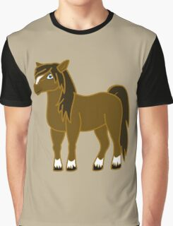 Brown Horse with Blaze Graphic T-Shirt