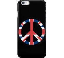 British Flag Peace Sign iPhone Case/Skin