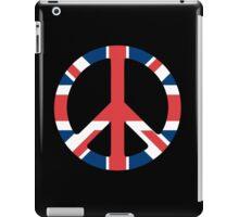 British Flag Peace Sign iPad Case/Skin
