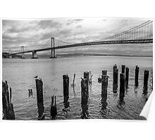 Bay Bridge with Wooden Piles Poster